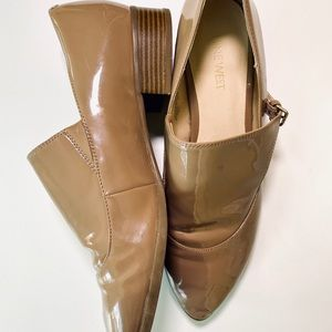 NINE WEST NYESSA OXFORD FLATS WITH SIDE BUCKLES